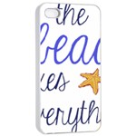 The Beach Fixes Everything Apple iPhone 4/4s Seamless Case (White) Front