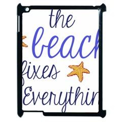 The Beach Fixes Everything Apple Ipad 2 Case (black) by OneStopGiftShop