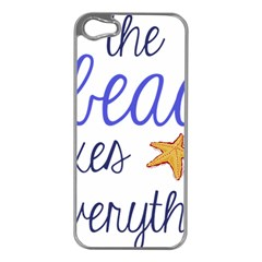 The Beach Fixes Everything Apple Iphone 5 Case (silver) by OneStopGiftShop
