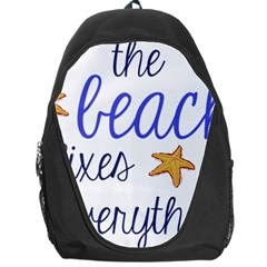 The Beach Fixes Everything Backpack Bag