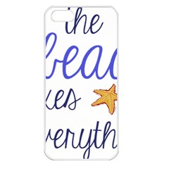 The Beach Fixes Everything Apple Iphone 5 Seamless Case (white) by OneStopGiftShop