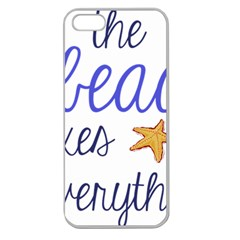 The Beach Fixes Everything Apple Seamless Iphone 5 Case (clear) by OneStopGiftShop