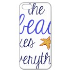 The Beach Fixes Everything Apple Seamless iPhone 5 Case (Clear) Front