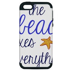 The Beach Fixes Everything Apple Iphone 5 Hardshell Case (pc+silicone) by OneStopGiftShop