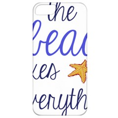 The Beach Fixes Everything Apple Iphone 5 Classic Hardshell Case by OneStopGiftShop