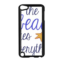 The Beach Fixes Everything Apple Ipod Touch 5 Case (black) by OneStopGiftShop