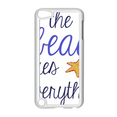 The Beach Fixes Everything Apple Ipod Touch 5 Case (white) by OneStopGiftShop