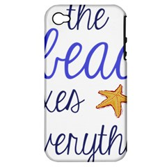 The Beach Fixes Everything Apple Iphone 4/4s Hardshell Case (pc+silicone) by OneStopGiftShop