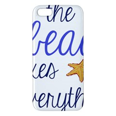 The Beach Fixes Everything Apple Iphone 5 Premium Hardshell Case by OneStopGiftShop