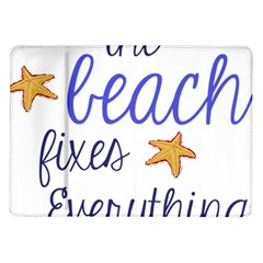 The Beach Fixes Everything Samsung Galaxy Tab 10 1  P7500 Flip Case by OneStopGiftShop