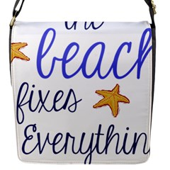 The Beach Fixes Everything Flap Messenger Bag (s) by OneStopGiftShop