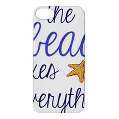 The Beach Fixes Everything Apple Iphone 5s/ Se Hardshell Case by OneStopGiftShop