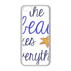 The Beach Fixes Everything Apple Iphone 5c Seamless Case (white) by OneStopGiftShop