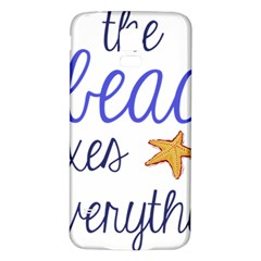The Beach Fixes Everything Samsung Galaxy S5 Back Case (white) by OneStopGiftShop