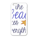 The Beach Fixes Everything Apple iPhone 6/6S White Enamel Case Front