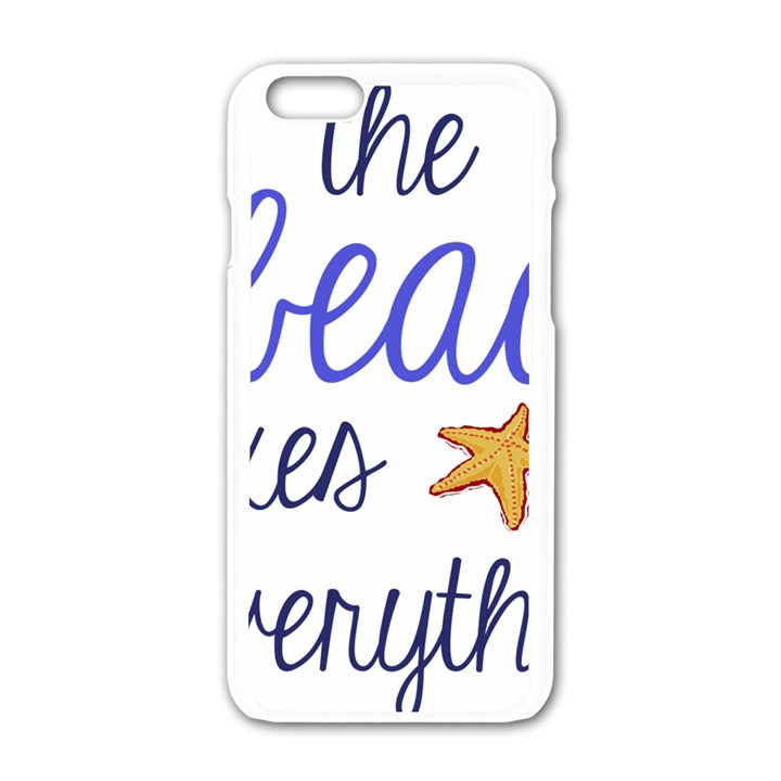 The Beach Fixes Everything Apple iPhone 6/6S White Enamel Case