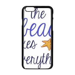 The Beach Fixes Everything Apple Iphone 6/6s Black Enamel Case by OneStopGiftShop