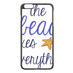 The Beach Fixes Everything Apple Iphone 6 Plus/6s Plus Black Enamel Case by OneStopGiftShop