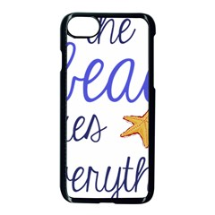The Beach Fixes Everything Apple Iphone 7 Seamless Case (black) by OneStopGiftShop
