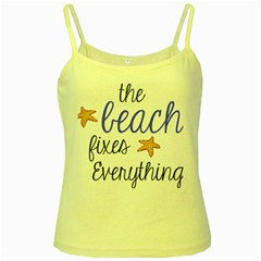 The Beach Fixes Everything Yellow Spaghetti Tank by OneStopGiftShop
