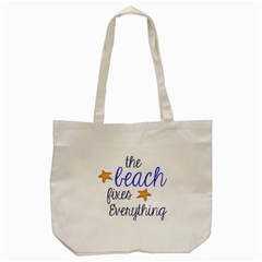 The Beach Fixes Everything Tote Bag (cream)