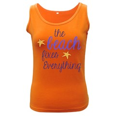 The Beach Fixes Everything Women s Dark Tank Top by OneStopGiftShop