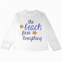 The Beach Fixes Everything Kids Long Sleeve T Shirts by OneStopGiftShop