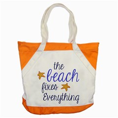 The Beach Fixes Everything Accent Tote Bag by OneStopGiftShop