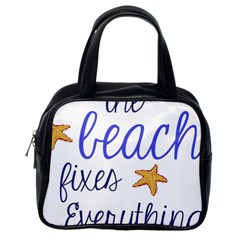 The Beach Fixes Everything Classic Handbags (one Side) by OneStopGiftShop