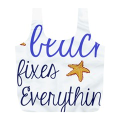 The Beach Fixes Everything Full Print Recycle Bags (l)