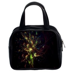 Fractal Flame Light Energy Classic Handbags (2 Sides) by Nexatart