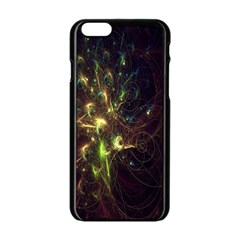 Fractal Flame Light Energy Apple Iphone 6/6s Black Enamel Case