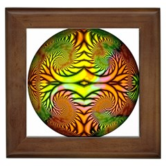 Fractals Ball About Abstract Framed Tiles