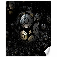 Fractal Sphere Steel 3d Structures Canvas 11  X 14   by Nexatart
