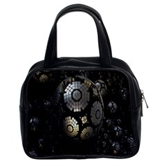 Fractal Sphere Steel 3d Structures Classic Handbags (2 Sides) by Nexatart