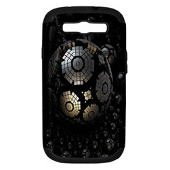 Fractal Sphere Steel 3d Structures Samsung Galaxy S Iii Hardshell Case (pc+silicone) by Nexatart
