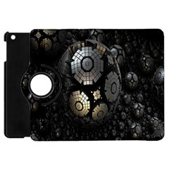 Fractal Sphere Steel 3d Structures Apple Ipad Mini Flip 360 Case by Nexatart