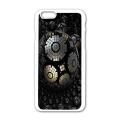 Fractal Sphere Steel 3d Structures Apple Iphone 6/6s White Enamel Case by Nexatart