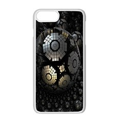 Fractal Sphere Steel 3d Structures Apple Iphone 7 Plus White Seamless Case by Nexatart