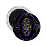Fractal Sparkling Purple Abstract 2.25  Magnets Front
