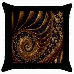 Fractal Spiral Endless Mathematics Throw Pillow Case (black) by Nexatart