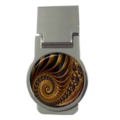 Fractal Spiral Endless Mathematics Money Clips (round)