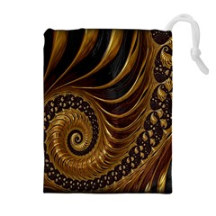 Fractal Spiral Endless Mathematics Drawstring Pouches (extra Large) by Nexatart