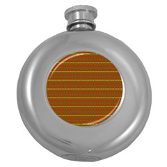 Fugly Christmas Xmas Pattern Round Hip Flask (5 Oz) by Nexatart