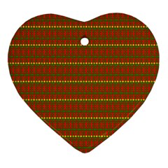 Fugly Christmas Xmas Pattern Heart Ornament (two Sides) by Nexatart