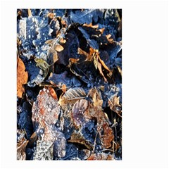 Frost Leaves Winter Park Morning Small Garden Flag (two Sides) by Nexatart