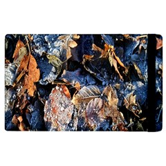 Frost Leaves Winter Park Morning Apple Ipad 3/4 Flip Case by Nexatart