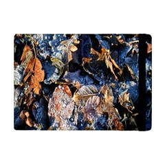 Frost Leaves Winter Park Morning Ipad Mini 2 Flip Cases by Nexatart