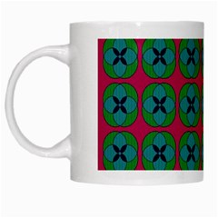 Geometric Patterns White Mugs