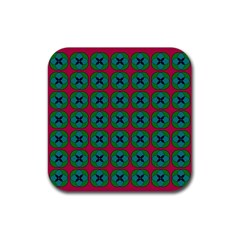 Geometric Patterns Rubber Square Coaster (4 Pack)  by Nexatart